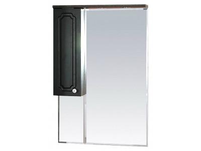 Мебель для ванной Misty Александра - 65 зеркало-шкаф лев. (свет) ВЕНГЕ П-Але04065-052СвЛ