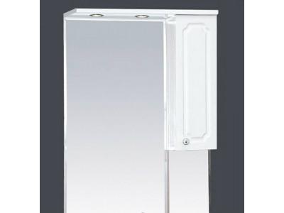 Мебель для ванной Misty Александра - 65 зерк-шкаф прав.(свет) белый мет П-Але04065-352СвП