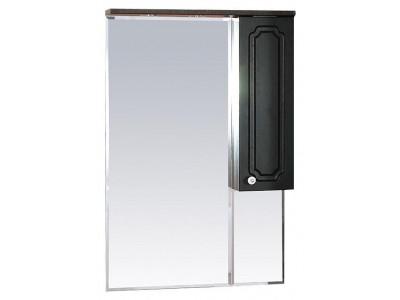 Мебель для ванной Misty Александра - 65 зеркало-шкаф прав. (свет) ВЕНГЕ П-Але04065-052СвП