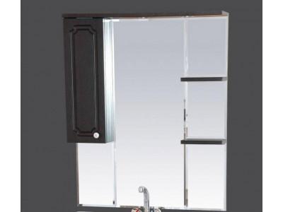 Мебель для ванной Misty Александра - 75 зеркало-шкаф лев. (свет) ВЕНГЕ П-Але04075-052СвЛ