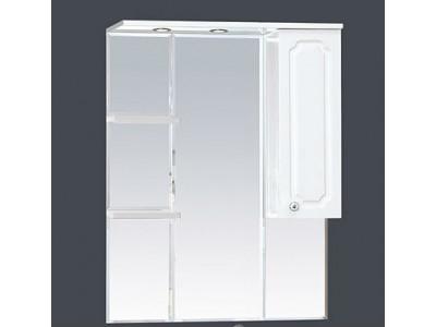 Мебель для ванной Misty Александра - 75 зеркало-шкаф прав.(свет) белый мет П-Але04075-352СвП