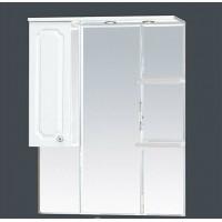 Misty Александра - 85 зеркало-шкаф лев.(свет) белый мет П-Але04085-352СвЛ