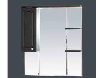 Мебель для ванной Misty Александра - 85 зеркало-шкаф лев. (свет) ВЕНГЕ П-Але04085-052СвЛ