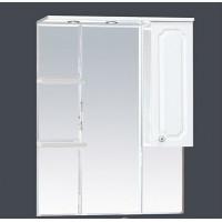 Misty Александра - 85 зеркало-шкаф прав.(свет) белый мет П-Але04085-352СвП