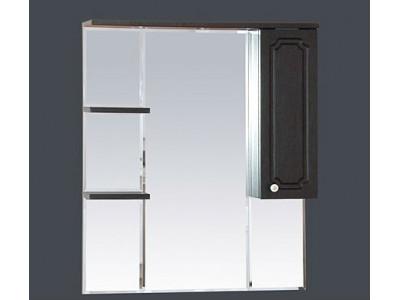 Мебель для ванной Misty Александра - 85 зеркало-шкаф прав. (свет) ВЕНГЕ  П-Але04085-052СвП