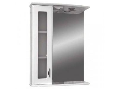 Мебель для ванной Misty Антик - 55  Зеркало - шкаф лев. (свет) Э-Ант02055-01СвЛ