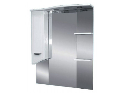 Мебель для ванной Misty Дрея  - 75 Зеркало - шкаф лев. (свет) Э-Дре02075-01СвЛ