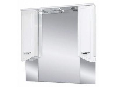 Мебель для ванной Misty Дрея  - 95 Зеркало - шкаф  (свет) Э-Дре02095-01Св