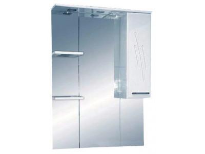 Мебель для ванной Misty Флори  90 Зеркало-шкаф  (свет) лев. Э-Флр04090-011СвЛ