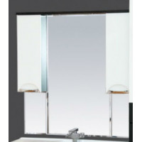 Misty Франко -105 зеркало-шкаф Венге/белый (свет) П-Фра04105-252Св