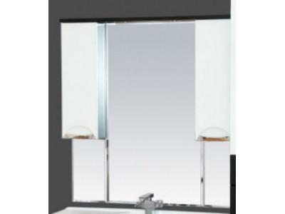 Мебель для ванной Misty Франко -105 зеркало-шкаф Венге/белый (свет) П-Фра04105-252Св