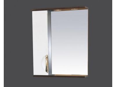 Мебель для ванной Misty Франко - 55 зеркало-шкаф Венге/белый (свет) лев. П-Фра04055-252СвЛ