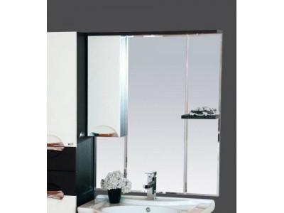 Мебель для ванной Misty Франко - 65 зеркало-шкаф Венге/белый (свет) лев. П-Фра04065-252СвЛ