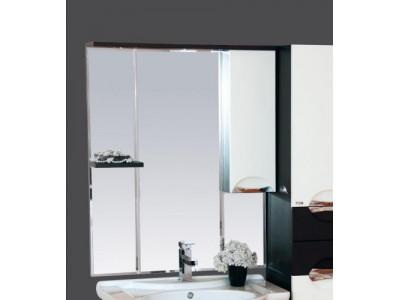 Мебель для ванной Misty Франко - 75 зеркало-шкаф Венге/белый (свет) прав. П-Фра04075-252СвП