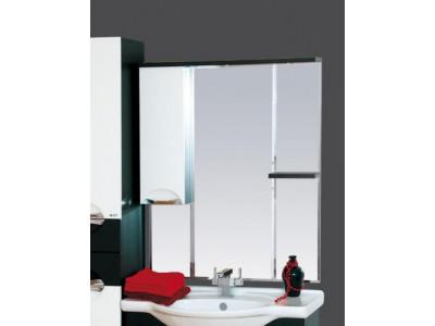 Мебель для ванной Misty Франко - 85 зеркало-шкаф Венге/белый (свет) лев. П-Фра04085-252СвЛ