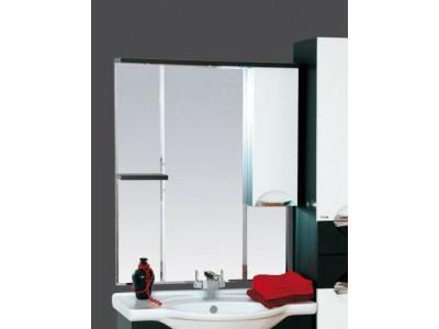 Мебель для ванной Misty Франко - 85 зеркало-шкаф Венге/белый (свет) прав. П-Фра04085-252СвП