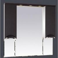 Misty Глория - 105 зеркало - шкаф (свет) ВЕНГЕ П-Гло02105-03Св