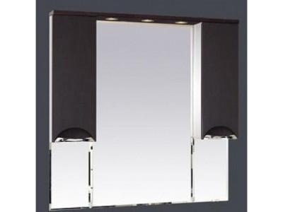 Мебель для ванной Misty Глория - 105 зеркало - шкаф (свет) ВЕНГЕ П-Гло02105-03Св