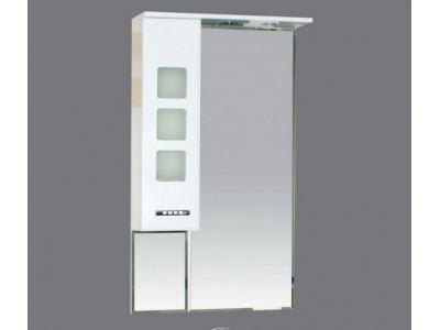 Мебель для ванной Misty Квадро - 60 Зеркало - шкаф лев. (свет) белое П-Ква02060-011СвЛ