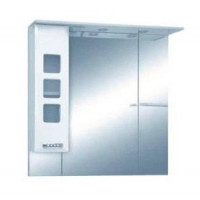 Misty Квадро - 90 Зеркало - шкаф лев. (свет) белая эмаль П-Ква02090-011СвЛ