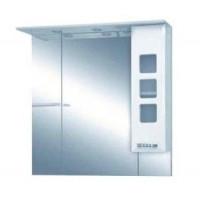 Misty Квадро - 90 Зеркало - шкаф прав. (свет) белая эмаль П-Ква02090-011СвП