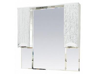 Мебель для ванной Misty Лорд -105 зеркало-шкаф (свет) (белая пленка) П-Лрд04105-012Св