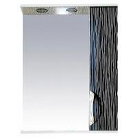 Misty Лорд - 55 зеркало-шкаф (свет) прав.(комб.бело-черн П-Лрд04055-232СвП