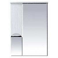 Misty Лорд - 65 зеркало-шкаф (свет) лев. (белая пленка) П-Лрд04065-012СвЛ