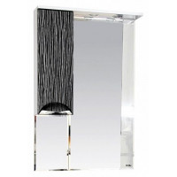 Misty Лорд - 65 зеркало-шкаф (свет) лев.(комб.бело-черн) П-Лрд04065-232СвЛ