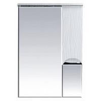 Misty Лорд - 65 зеркало-шкаф (свет) прав. (белая пленка) П-Лрд04065-012СвП