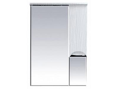 Мебель для ванной Misty Лорд - 65 зеркало-шкаф (свет) прав. (белая пленка) П-Лрд04065-012СвП