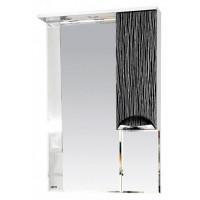 Misty Лорд - 65 зеркало-шкаф (свет) прав.(комб.бело-черн) П-Лрд04065-232СвП
