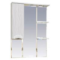 Misty Лорд - 75 зеркало-шкаф (свет) лев.(белая пленка)П-Лрд04075-012СвЛ