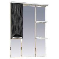 Misty Лорд - 75 зеркало-шкаф (свет) лев.(комб.бело-черн) П-Лрд04075-232СвЛ