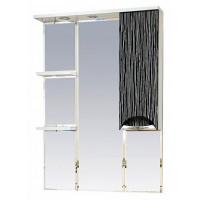 Misty Лорд - 75 зеркало-шкаф (свет) прав.(комб.бело-черн) П-Лрд04075-232СвП