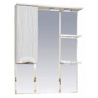 Misty Лорд - 85 зеркало-шкаф (свет) лев.(белая пленка ) П-Лрд04085-012СвЛ