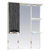 Misty Лорд - 85 зеркало-шкаф (свет) лев.(комб.бело-черн) П-Лрд04085-232СвЛ