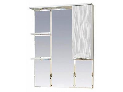 Мебель для ванной Misty Лорд - 85 зеркало-шкаф (свет) прав.(белая пленка ) П-Лрд04085-012СвП