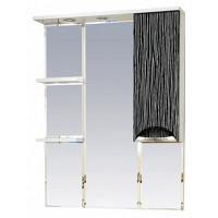 Misty Лорд - 85 зеркало-шкаф (свет) прав.(комб.бело-черн П-Лрд04085-232СвП