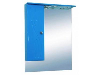 Мебель для ванной Misty МИСТИ-50 зеркало-шкаф лев. (свет) голубая Э-Мис02050-06СвЛ