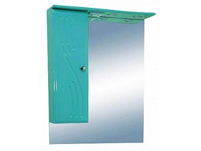 Мебель для ванной Misty МИСТИ-60 зеркало-шкаф лев. (свет) салатовая Э-Мис02060-07СвЛ