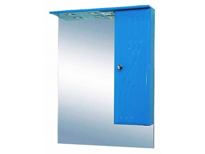 Мебель для ванной Misty МИСТИ-60 зеркало-шкаф прав. (свет) голубая Э-Мис02060-06СвП