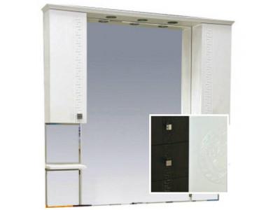 Мебель для ванной Misty Олимпия -105 Зеркало - шкаф комбинированное венге/белый П-Оли02105-252