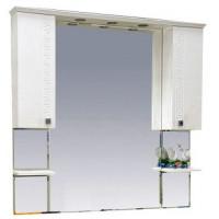 Misty Олимпия -120 Зеркало - шкаф белое фактурное П-Оли02120-012