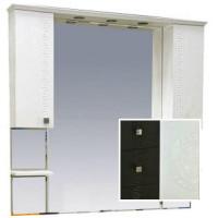 Misty Олимпия -120 Зеркало - шкаф комбинированное венге/белый П-Оли02120-252