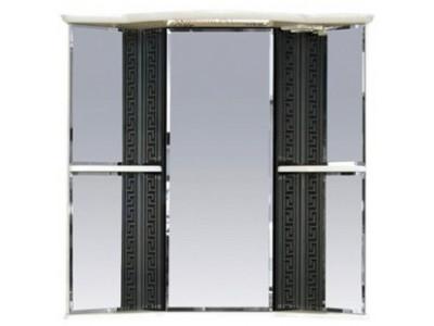 Мебель для ванной Misty Олимпия - 60 Зеркало - шкаф угловое лев. белое/венге П-Оли02060-252УгЛ