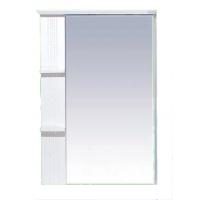 Зеркальный шкаф Misty Олимпия - 75 Зеркало белое фактурное левое П-Оли02075-012Л