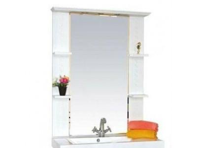 Мебель для ванной Misty Олимпия - 90 Зеркало   белое фактурное П-Оли02090-012