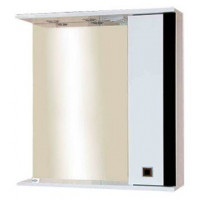Зеркальный шкаф Misty Палермо 70 R черный П-Пал04070-231СвП