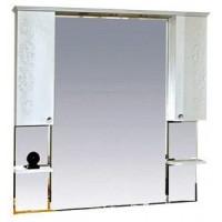 Misty Вирджиния (Бабочка) -120 зеркало - шкаф белый фактурный П-Вир02120-012